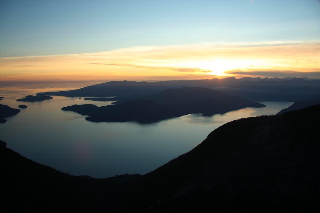 sunset from peak