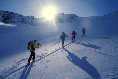 normal ski route from Juf