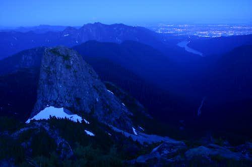 night shot from west lion summit