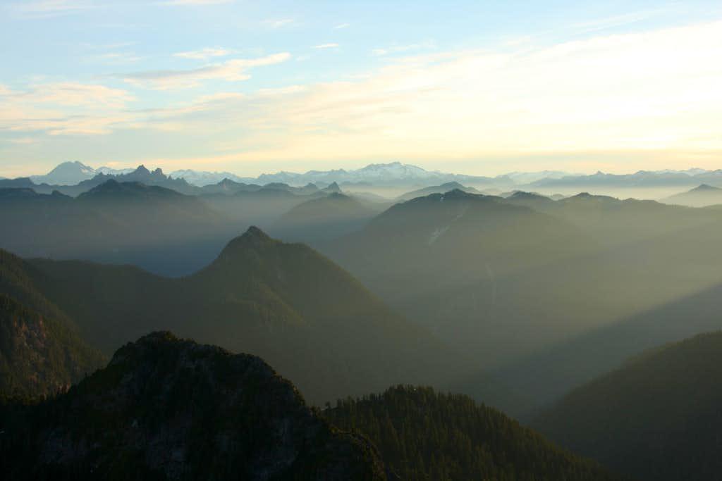 sunrise from west lion summit