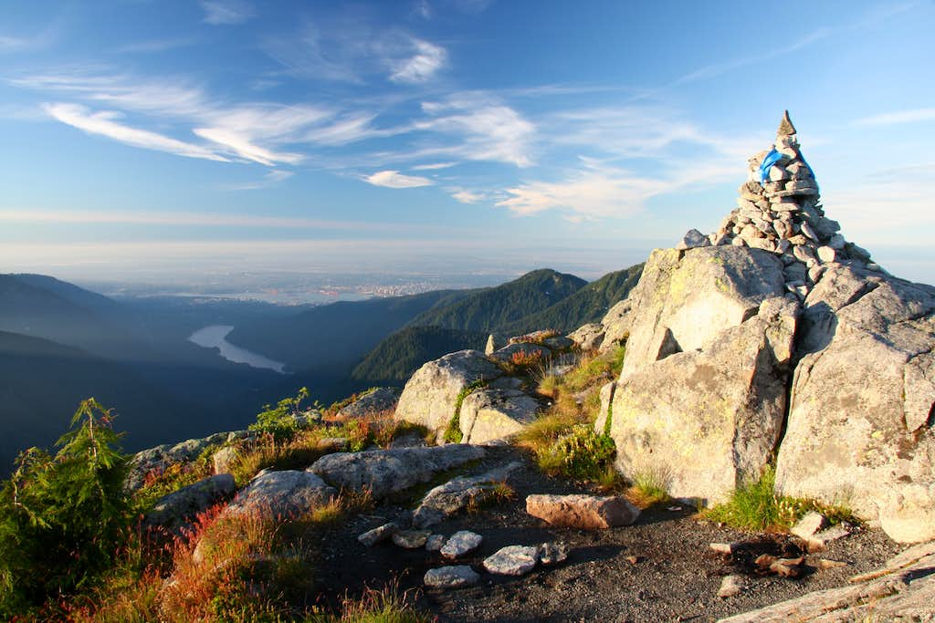 summit after sunrise
