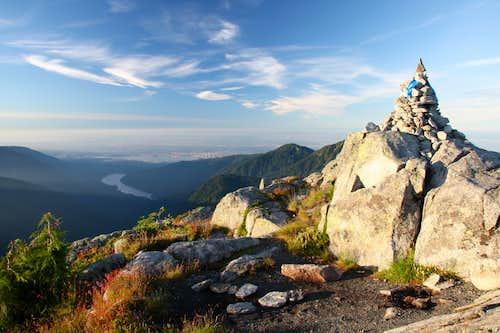 summit after sunrise