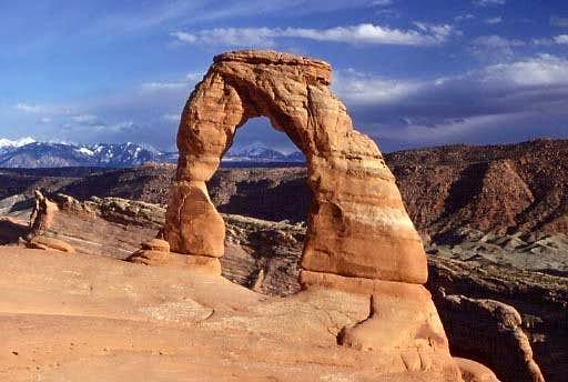 Delicate Arch, with the La...