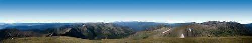 Panorama from Hyalite Peak