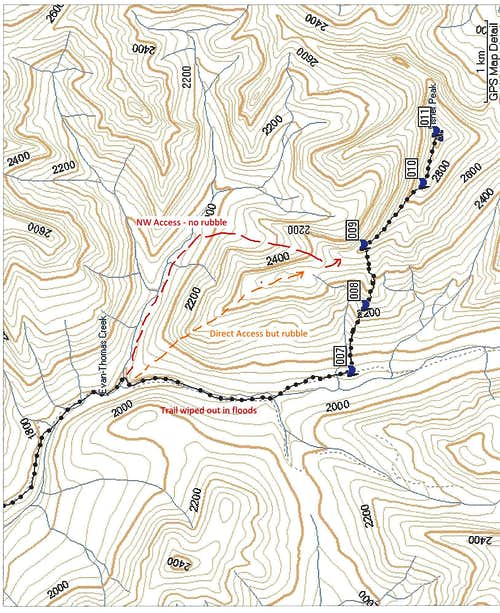 Fisher Peak Map