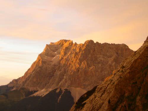 Alpenglow of Zugspitze