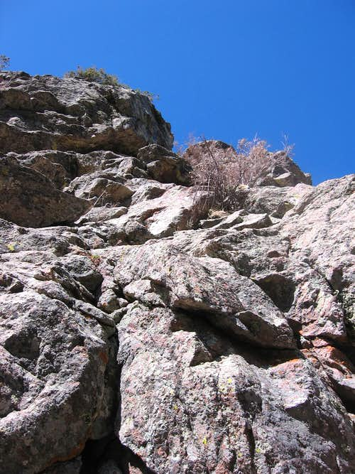 Looking up the East Saddle Route