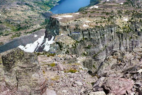 Descent route into Saddle