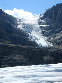 Icefall on south slope of Mt Andromeda
