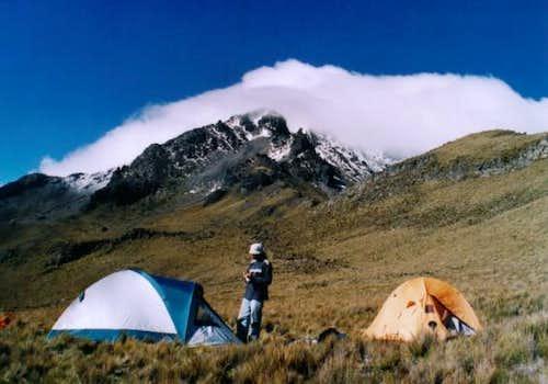 Our campsite at 4200m on Cotacachi
