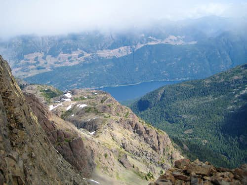 Buttle Lake from Mt McBride