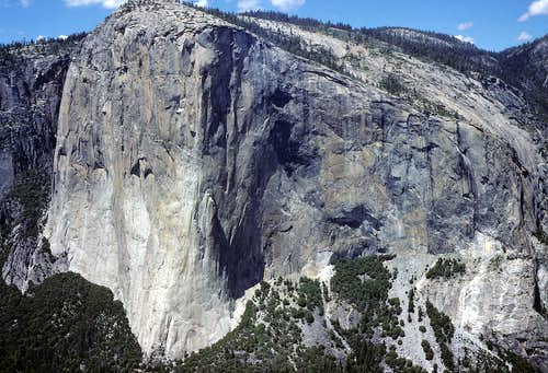Detailed View of the South Face of El Capitan