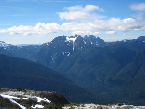 Rambler Peak and Mt Colonel Foster