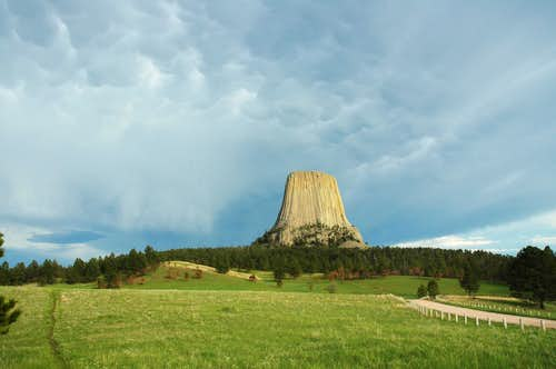 Storm Clouds Over Devils Tower