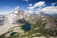 South, Middle, North Sister and the Green Lakes
