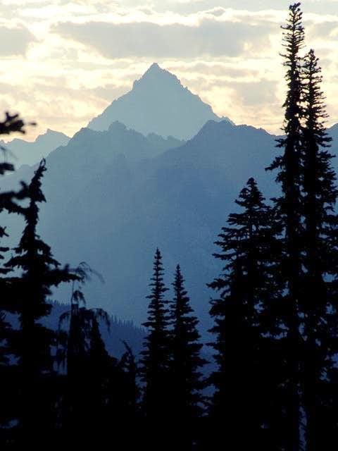 Mt. Stuart silhouetted...