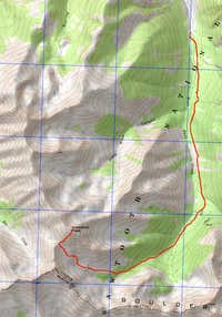 Glassford Peak map
