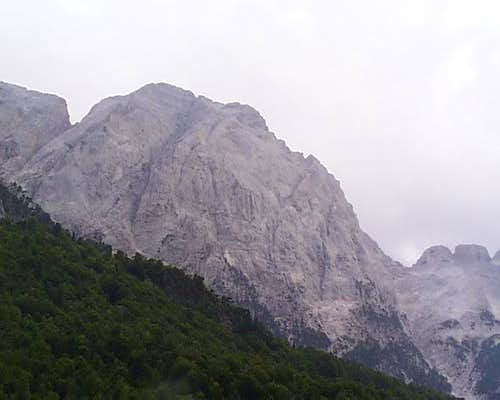 Mt Hapeta from Valbona Canyon