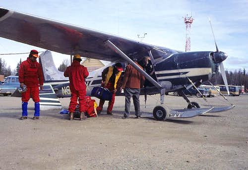 Loading the bush plane