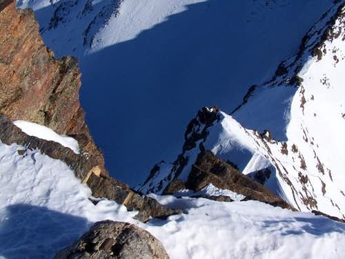 Looking down the East face of...