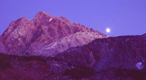 Mt. Agassiz and Moon