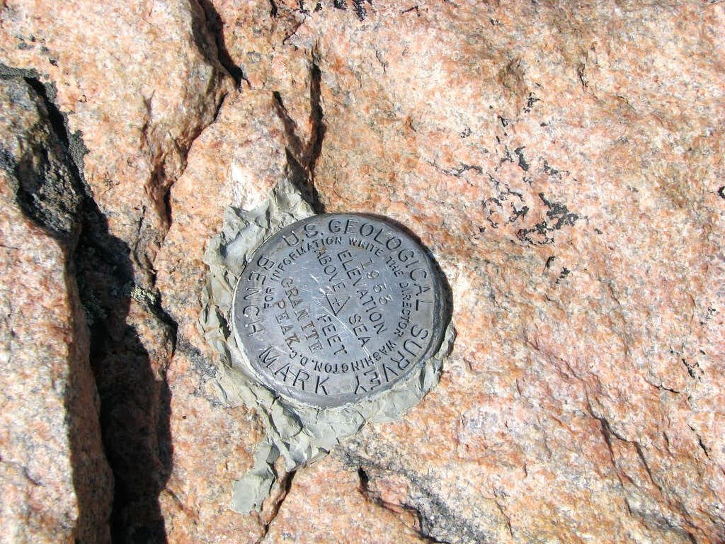 Granite Peak, MT Benchmark