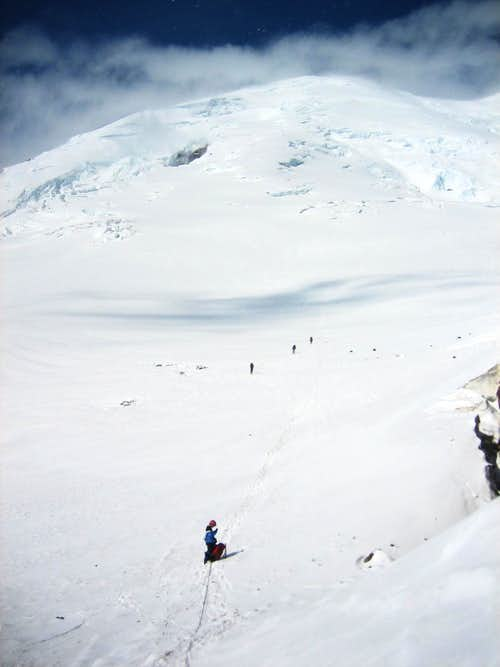 Descent from Camp Schurman