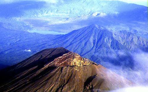 Summit of Mt Agung; in the...