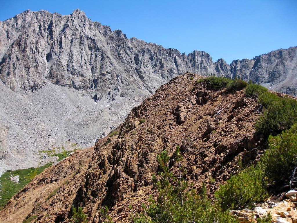 Cloudripper (L) (13,525') and Chocolate Peak (11,682'), Sierra Nevada