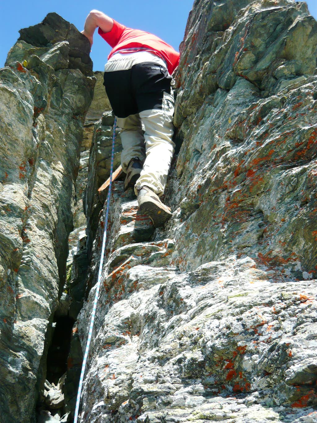 Descending the crack