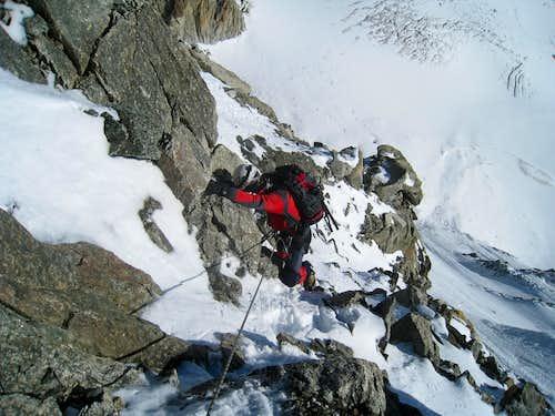 Aiguille d'Argentière, north face