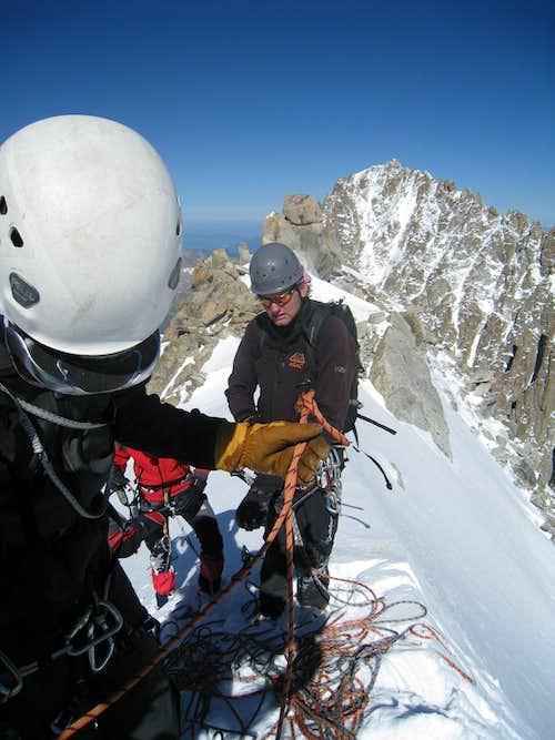Aiguille d'Argentière, summit ridge