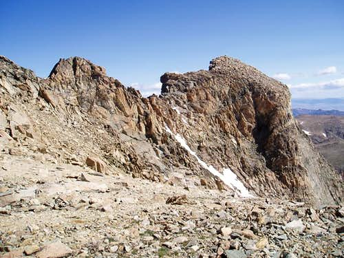 Bastion Peak\'s northeast summit