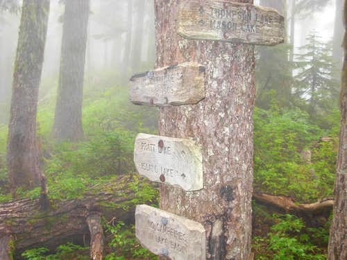 Sign in Alpine Lakes Wilderness