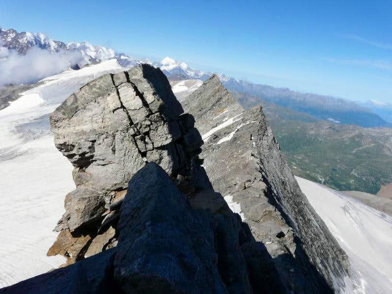 on the WSW ridge