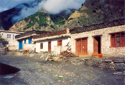 Along the Annapurna trail