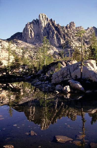 Prusik Peak reflected in a...