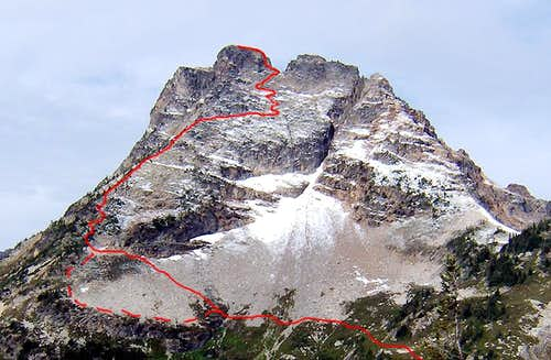 Corteo Peak -  East Face Route