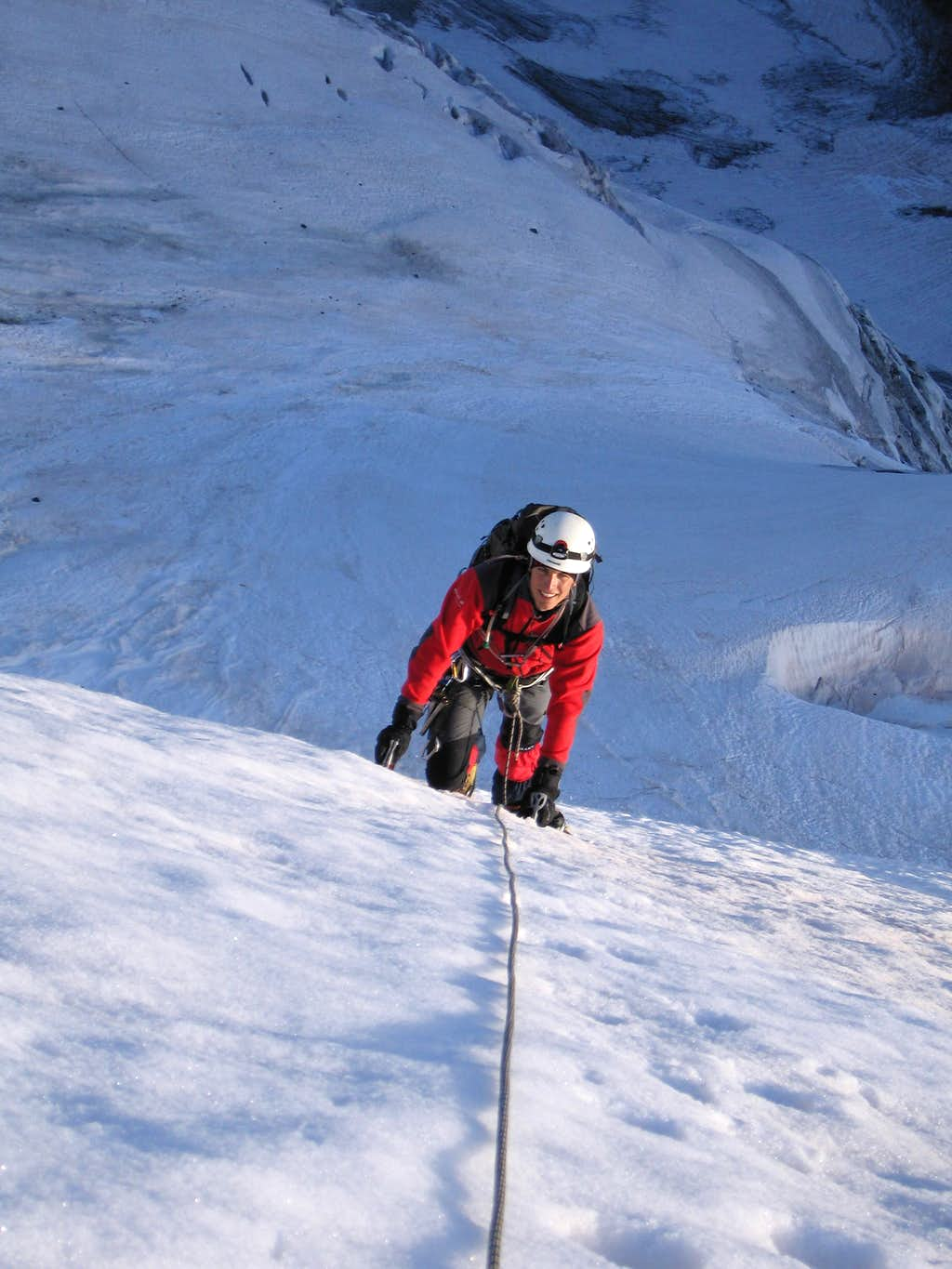 Climbing the North Face