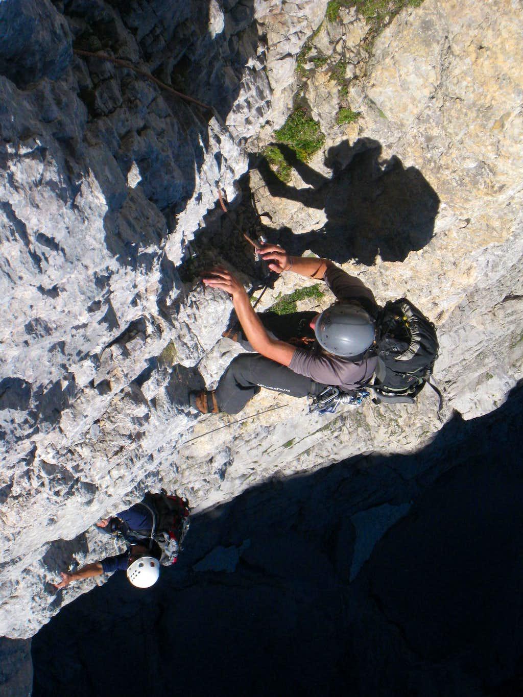 Climbing sunny slopes