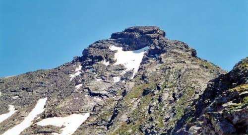 The distinctive summit cap of...