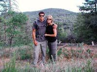 Lori and I Hiking