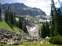Lake camp at Moon Lake boulder field