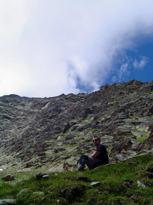 Last ridge to Mischgabelhütte