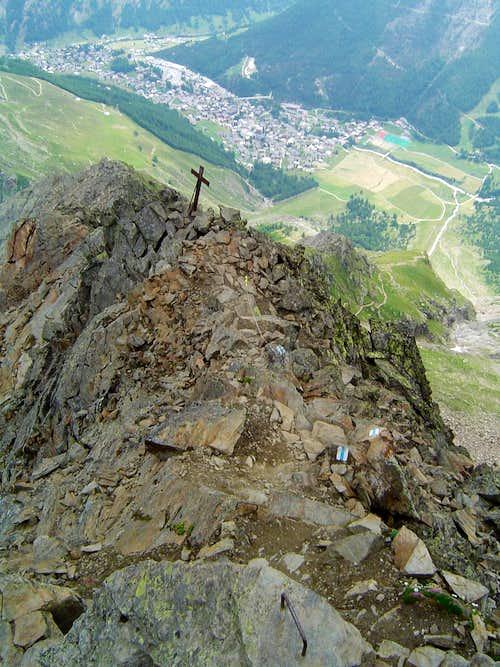 View down to Saas-Fee