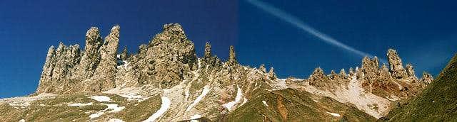 The Roßzähne Ridge seen from...