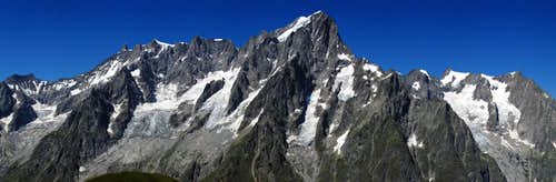 The Grand Jorasses from SE