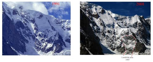 Brenva Spur, old vs new