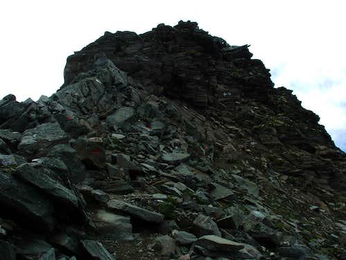 Geiselkopf, the last few metres