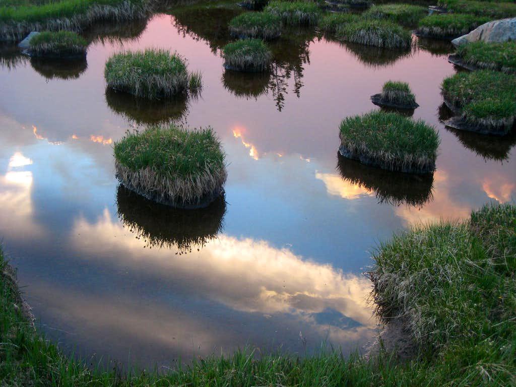 Smoky evening reflection